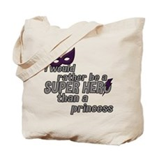 I would rather be a SUPER HERO... - Purple Tote Ba