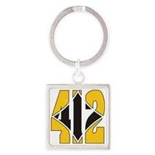 412 Gold/Black-W Square Keychain