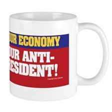 Anti-Obama bumper sticker Mug
