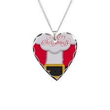 Merry Christmas Queen Duvet Necklace Heart Charm