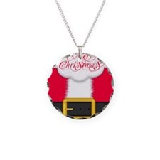 Merry Christmas Queen Duvet Necklace Circle Charm