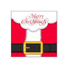 "Merry Christmas Queen Duvet Square Sticker 3"" x 3"""
