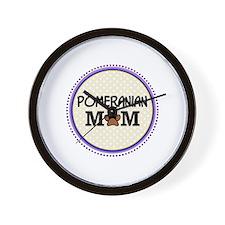 Pomeranian Dog Mom Wall Clock