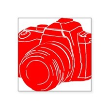 "RED! Square Sticker 3"" x 3"""