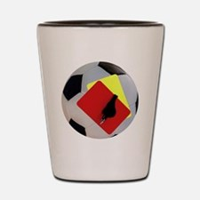 Football- cards-whistle Shot Glass
