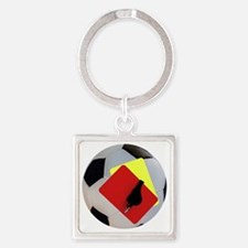 Football- cards-whistle Square Keychain