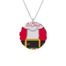 Merry Christmas King Duvet Necklace Circle Charm