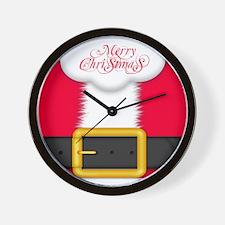 Merry Christmas King Duvet Wall Clock