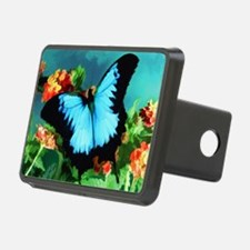 Blue Butterfly on Orange L Hitch Cover
