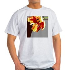 Abstract Orange  Gold Parrot Tulip T-Shirt