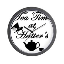 Tea Time at Hatters Wall Clock