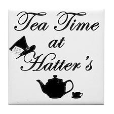 Tea Time at Hatters Tile Coaster