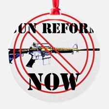 GUN REFORM NOW B Ornament