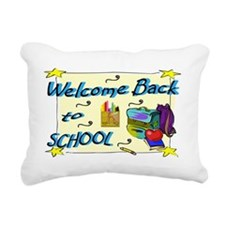 Welcome Back to School B Rectangular Canvas Pillow