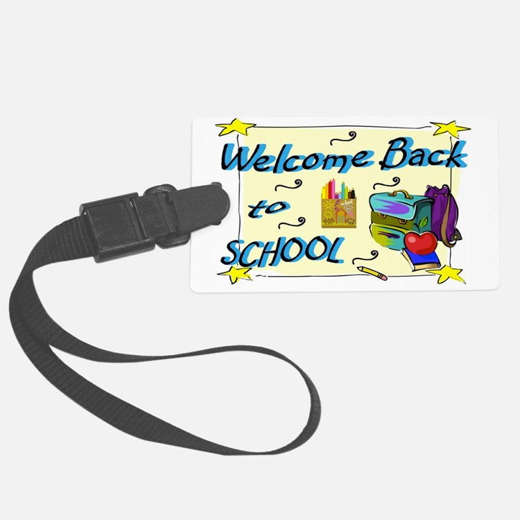 Welcome Back to School Backpack Luggage Tag