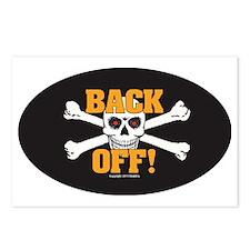 OTG 6 Back Off 2  Sticker Postcards (Package of 8)