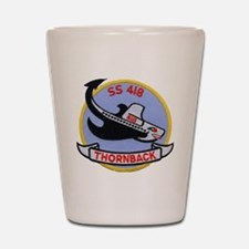 uss thornback patch transparent Shot Glass
