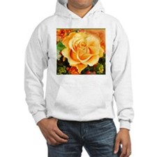 Watercolor Yellow Rose with Oran Hoodie
