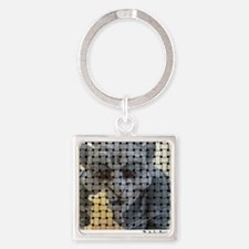 Woven picture Square Keychain