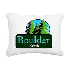 Boulder Colorado t shirt Rectangular Canvas Pillow