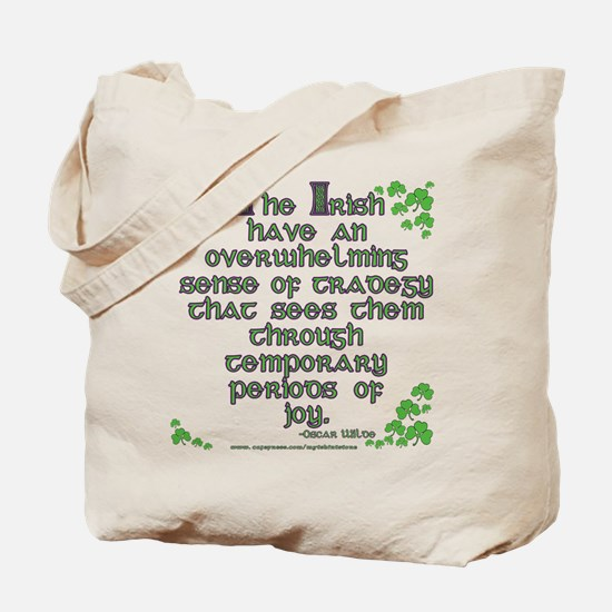 Funny Oscar Wilde Quote Tote Bag