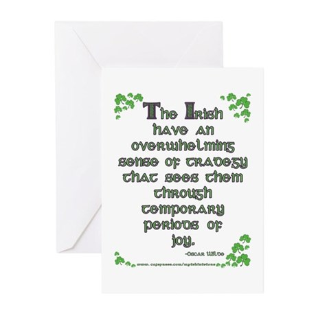 Funny Oscar Wilde Quote Greeting Cards (Package of