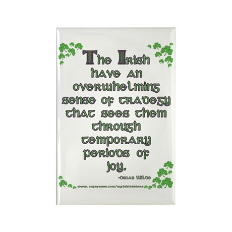 Funny Oscar Wilde Quote Rectangle Magnet