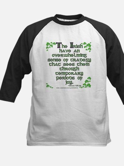 Funny Oscar Wilde Quote Kids Baseball Jersey