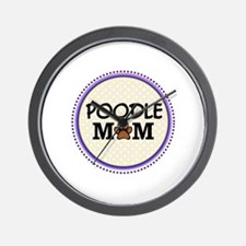 Poodle Dog Mom Wall Clock