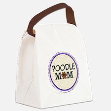 Poodle Dog Mom Canvas Lunch Bag