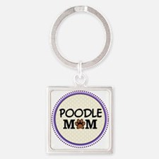 Poodle Dog Mom Keychains