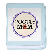 Poodle Dog Mom baby blanket