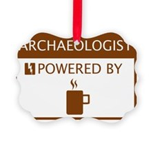 Archaeologist Powered by Coffee Ornament