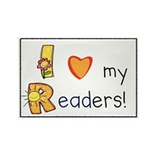 I Love My Readers! Rectangle Magnet