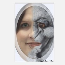 Half Gargoyle face Postcards (Package of 8)