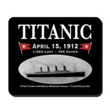 Titanic Ghost Ship (black) Mousepad