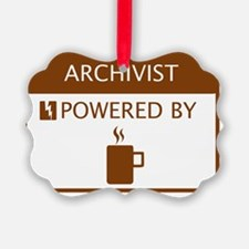 Archivist Powered by Coffee Ornament