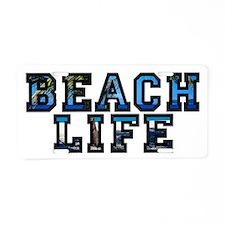 Beach Life Aluminum License Plate