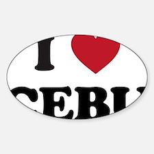 I Love Cebu Decal