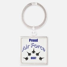 Proud Air Force Brat Square Keychain