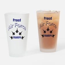 Proud Air Force Grandpa Drinking Glass