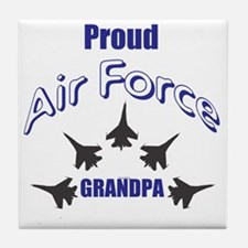 Proud Air Force Grandpa Tile Coaster