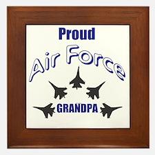Proud Air Force Grandpa Framed Tile