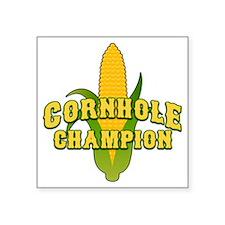 """Cornhole Champion Square Sticker 3"""" x 3"""""""