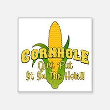 """Cornhole Square Sticker 3"""" x 3"""""""