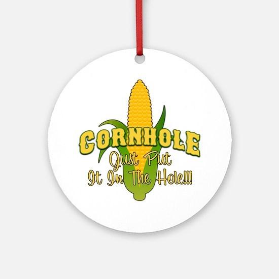 Cornhole Round Ornament