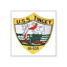 "uss tingey patch transparen Square Sticker 3"" x 3"""