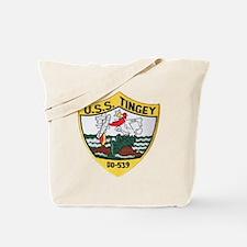 uss tingey patch transparent Tote Bag