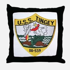 uss tingey patch transparent Throw Pillow
