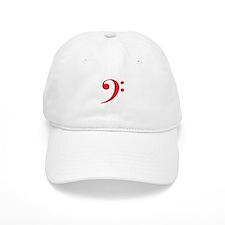 Red Bass Clef Baseball Cap